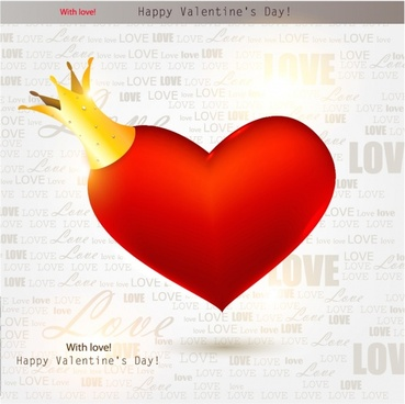 valentine hearts vector elements