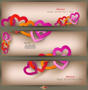 valentine label elements 03 vector