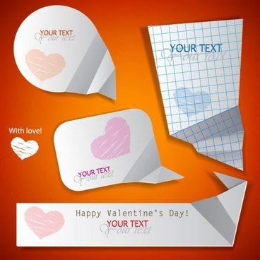 valentine label elements 06 vector
