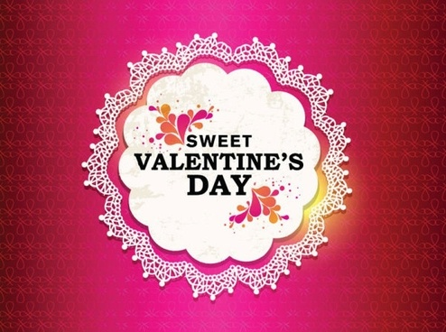 valentine labels background vector
