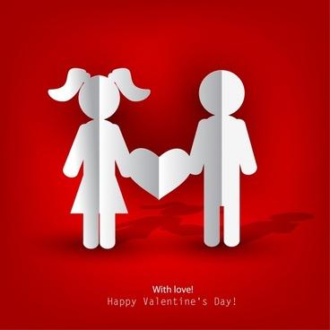 valentine love silhouette vector