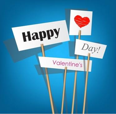 valentine love silhouette vector billboard happy