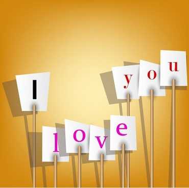 valentine love silhouette vector billboards love