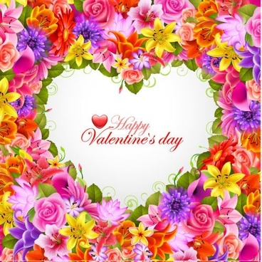 valentine roses flowers background vector