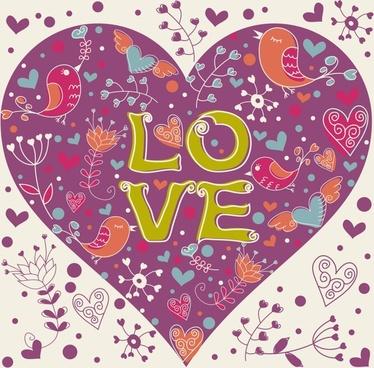 valentine vector line art illustration