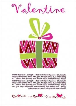 valentine card design gift box decoration colorful sketch