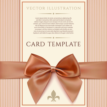 valentines day cards with ornate bow vector