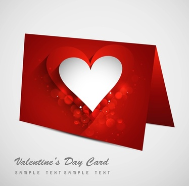 valentines day colorful hearts marriage card set vector