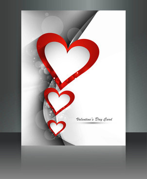 valentines day for brochure template heart background colorful vector