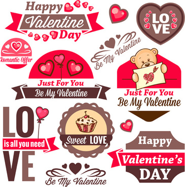 valentines day romantic labels