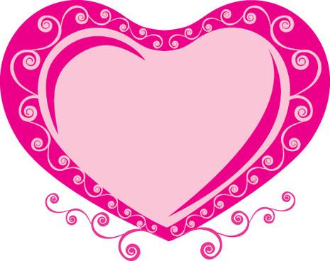 valentines day romantic ornaments vector