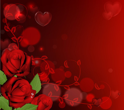 valentines with romantic backgrounds vector