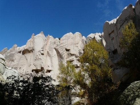 valley of roses cappadocia rock wall