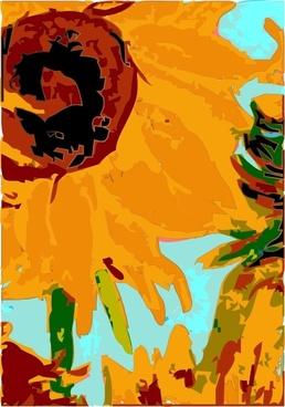 Van Gogh 's Sun Flower clip art