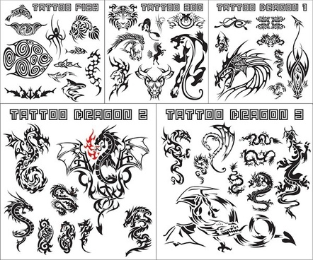 variety of animal totem vector