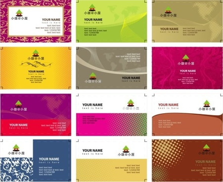 Vector business card template cdr free vector download 32103 free variety of business card templates vector reheart Gallery