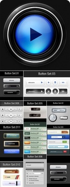 variety of button icons psd layered