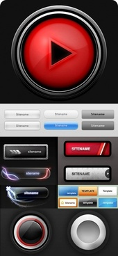 variety of button icons psd layered 2