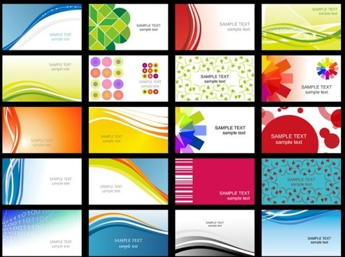 Business card template download free vector download 30346 free variety of dynamic flow line of business card templates 02 vector wajeb Gallery