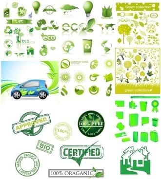 variety of environmental icon vector