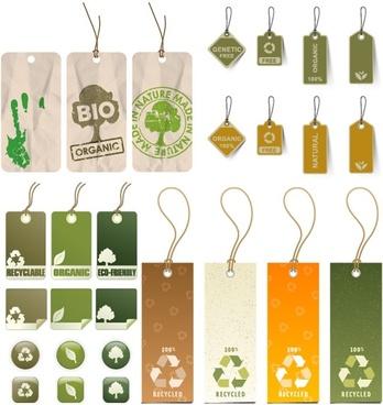 variety of environmental tag vector