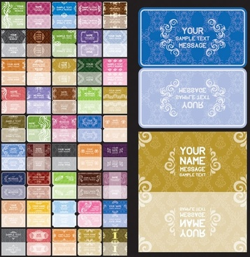 variety of european background pattern vector 1 card