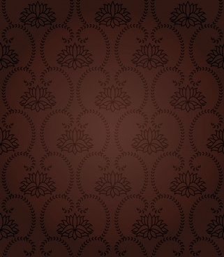 variety of european gorgeous shading pattern vector
