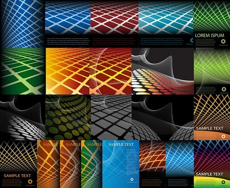 variety of geometric vector background