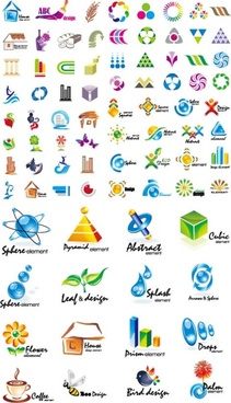 variety of graphic design vector