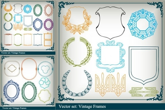 variety of graphical borders clip art