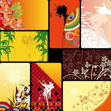 variety of practical card background vector