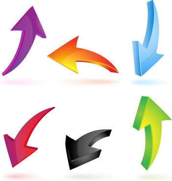 directional arrow templates modern colorful dynamic 3d design
