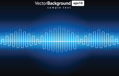 various audio wave light vector backgrounds set
