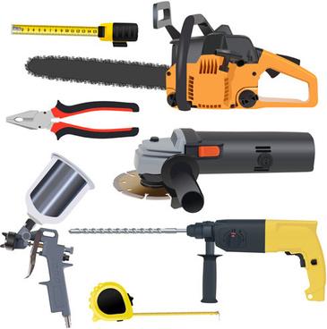 various building tools elements vector set