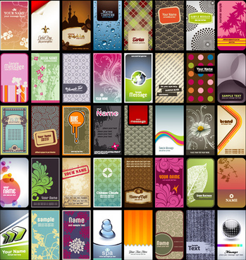various business cards template and background vector