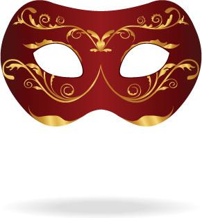 various carnival mask elements vector set