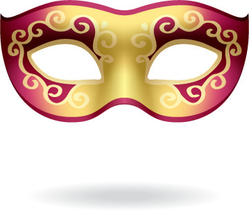 Various Carnival Mask Elements Vector Set