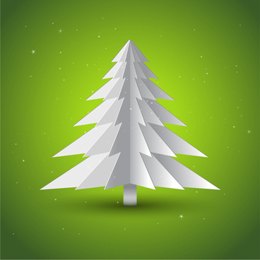 various christmas tree elements vector graphics set