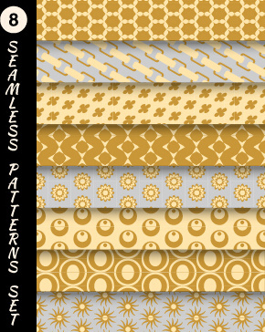 various decorative seamless pattern vector set