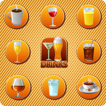 various food and drink design vector