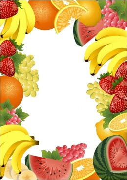 fruits background colored realistic 3d decor
