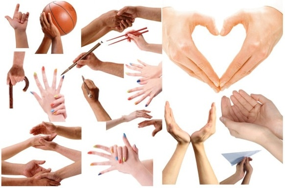 various gestures psd