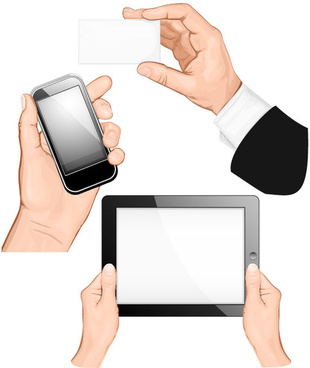 various multi touch gestures for tablets and smartphones vector