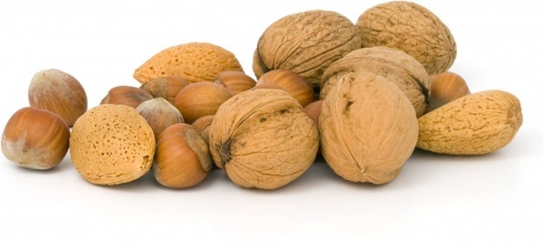 various nuts almond