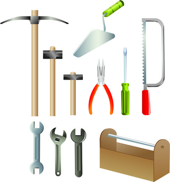 various of life tool vector set