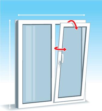 various plastic windows vector set