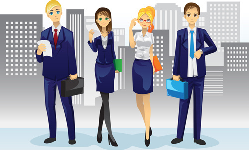 various professions people vector set