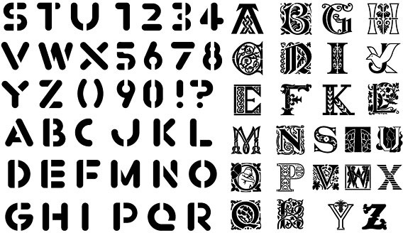 various silhouette vector elements fonts 65 elements concluded