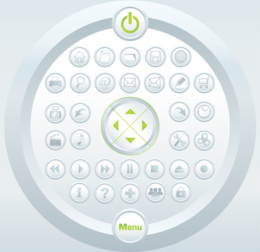 various sites menus design vector graphics