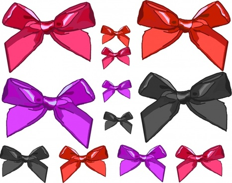 various size clip art bows